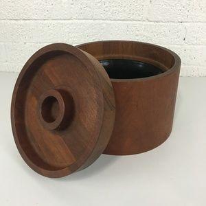 Dansk mid century modern teak wood ice bucket